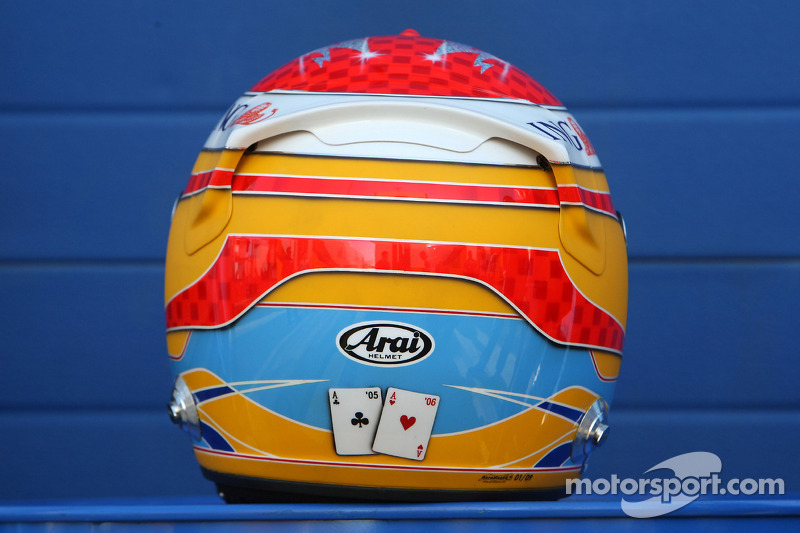Casco de Fernando Alonso en 2009