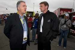 Piero Ferrari, Ferrari vice-president, and Doug Yates, Yates Racing owner