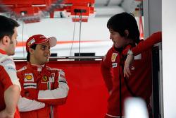 Felipe Massa, Scuderia Ferrari, with Rob Smedley