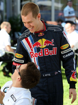 Christian Klien, Test Driver, BMW Sauber F1 Team, Sebastian Vettel, Red Bull Racing