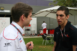Pascal Vasselon, Toyota Racing, Senior General Manager Chassis with Sebastien Buemi, Scuderia Toro Rosso