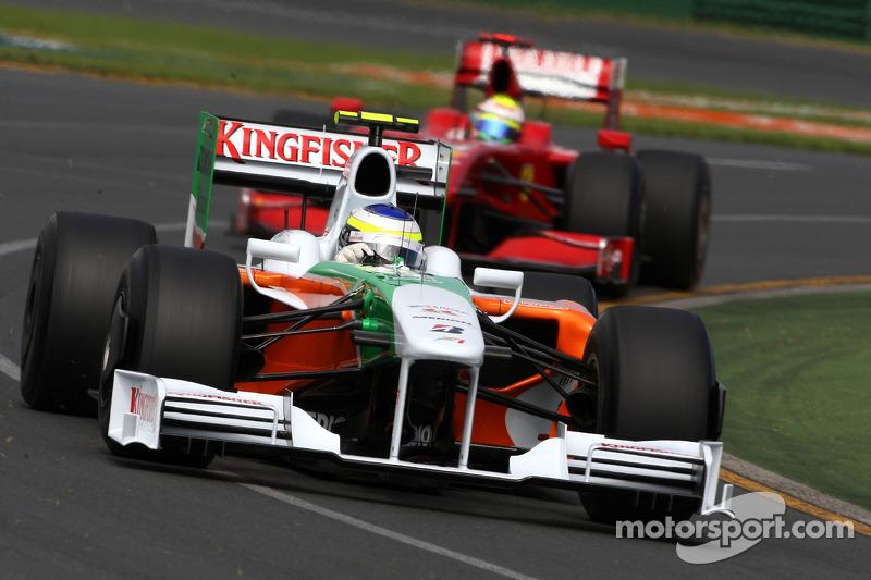 Giancarlo Fisichella, Force India F1 Team, VJM-02, VJM02, VJM 0, Felipe Massa, Scuderia Ferrari
