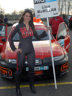 Liam McMillan's grid girl
