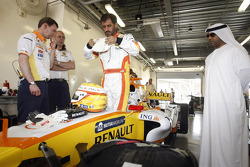 FIA's Vice-President for sport and 14-time Middle East Rally Champion Mohamed Ben Sulayem prepares for this ride in the R28 at the Dubai Autodrome