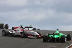 Clivio Piccione, driver of A1 Team Monaco and Adam Carroll, driver of A1 Team Ireland
