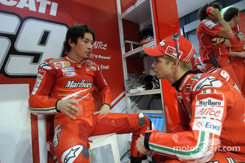 Nicky Hayden, Ducati Marlboro Team et Casey Stoner, Ducati Marlboro Team