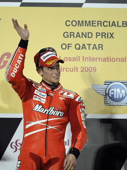 Podium: race winner Casey Stoner, Ducati Marlboro Team
