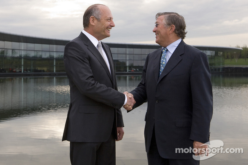 Ron Dennis, Executive Chairman of McLaren Automotive, and Richard Lapthorne, Non-Executive Chairman