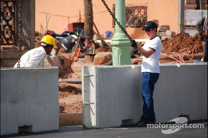 Marrakech City Circuit construction