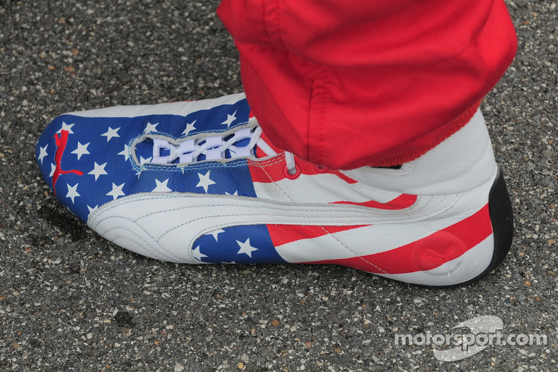 Graham Rahal's, Newman/Haas/Lanigan Racing shoe, very patriotic