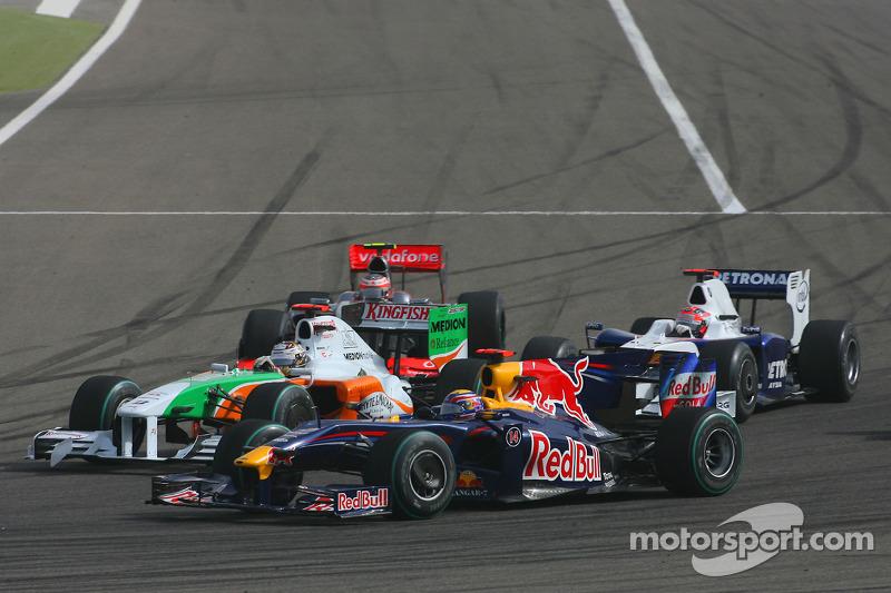 Mark Webber, Red Bull Racing, Adrian Sutil, Force India F1 Team