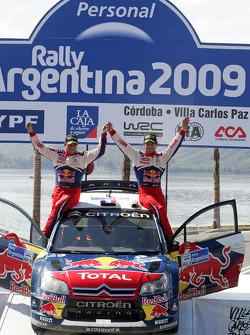 Podium: winners Sébastien Loeb and Daniel Elena, Citroen C4, Citroen Total World Rally Team