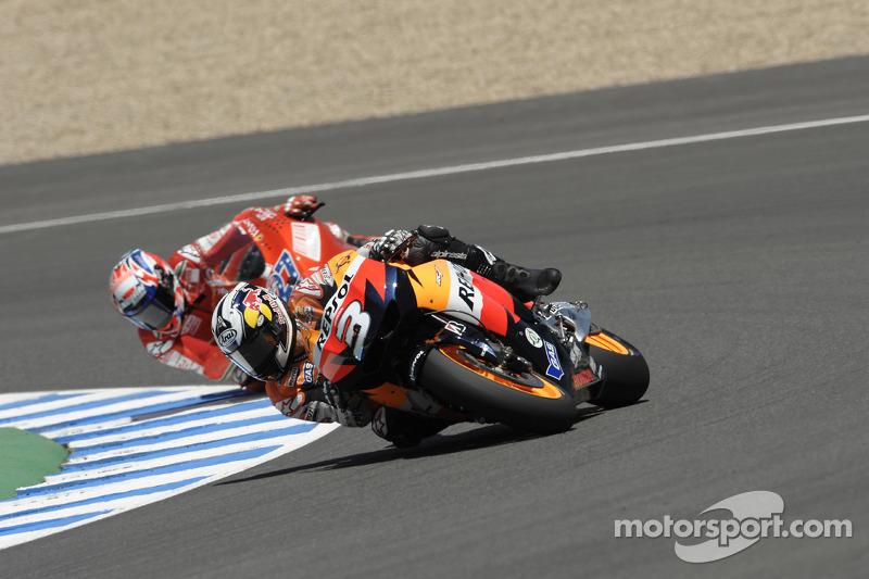 Dani Pedrosa, Repsol Honda Team y Casey Stoner, Ducati Marlboro Team