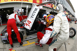 Pit stop for #14 K plus K Motorsport Saleen S7R: Karl Wendlinger, Ryan Sharp