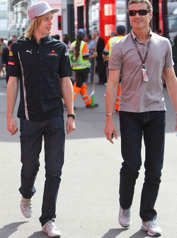 Brendon Hartley, Test Driver, Red Bull Racing and David Coulthard, Red Bull Racing, Consultant