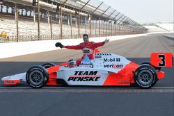 Front row shoot: Helio Castroneves, Penske Racing