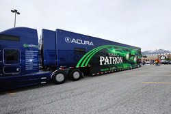 Patron Highcroft Racing transporter