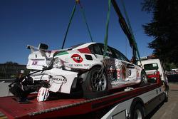 Alex Zanardi, BMW Team Italy-Spain, BMW 320si, crash
