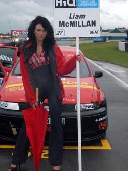 Liam McMillan's grid girl