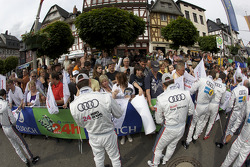 Audi drivers sign autographs for fans