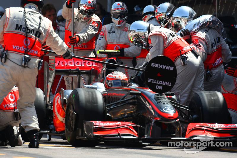 Pitstop of Heikki Kovalainen, McLaren Mercedes