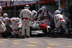 Jarno Trulli, Toyota F1 Team pit stop