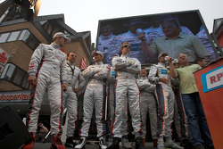 Audi drivers on stage