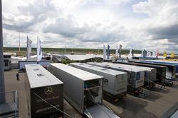 DTM transporters and paddock overview