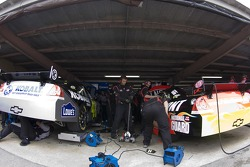 The garage area
