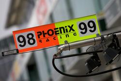 Phoenix Racing pit signs