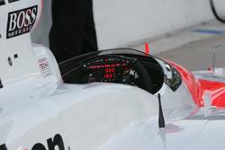 Steerling wheel of the #3 Team Penske car of Helio Castroneves