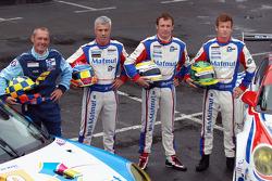 Michel Lecourt, Raymond Narac, Patrick Pilet and Patrick Long