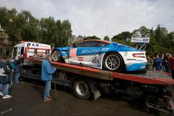 #66 Jetalliance Racing Aston Martin DBR9 arrives at scrutineering