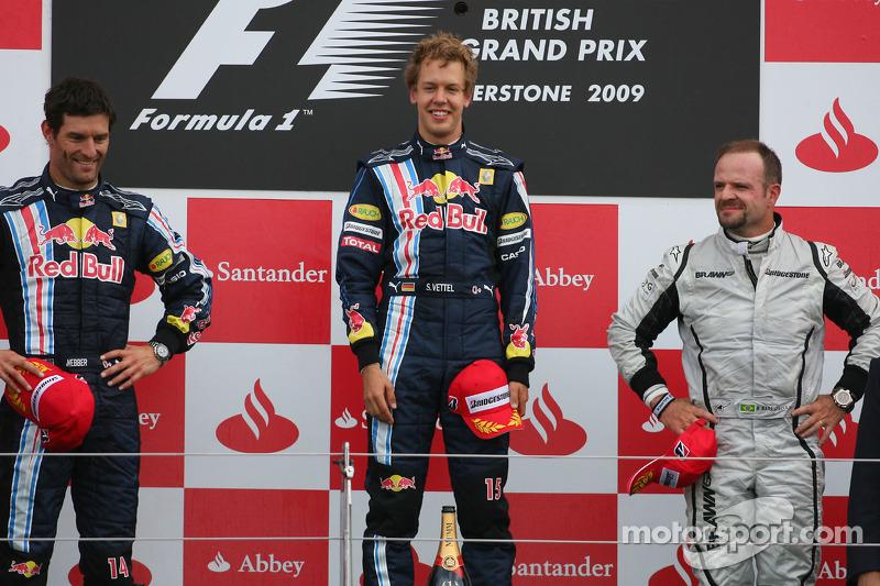 2009: 1. Sebastian Vettel, 2. Mark Webber, 3. Rubens Barrichello
