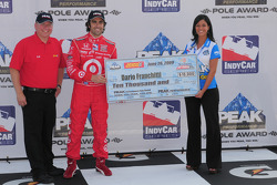 Dario Franchitti, Target Chip Ganassi Racing gets a check for winning pole