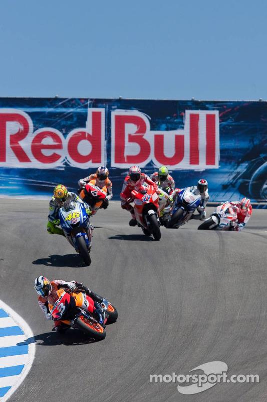 Dani Pedrosa, Repsol Honda Team y Valentino Rossi, Fiat Yamaha Team