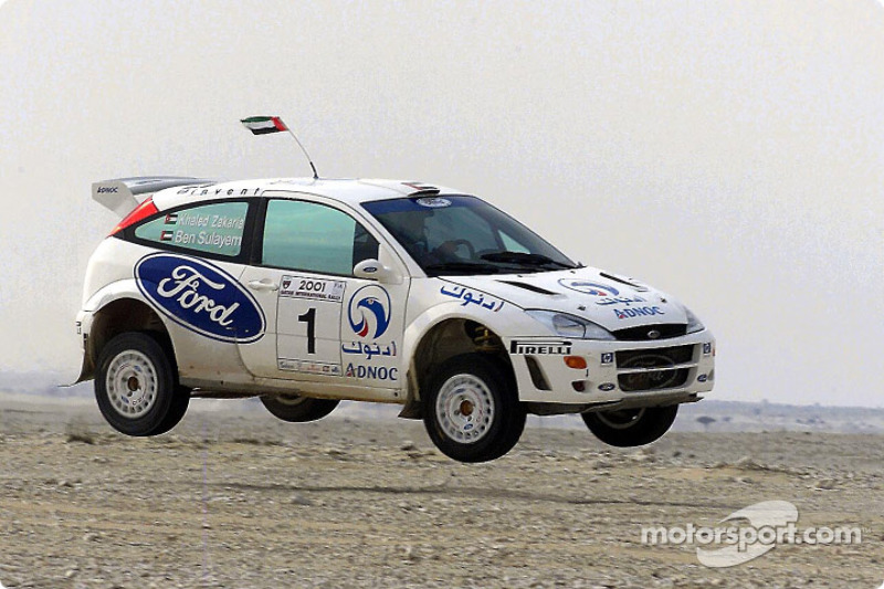 FIA's Vice-President for sport and 14-time Middle East Rally Champion Mohamed Ben Sulayem and co-driver Khaled Zakaria