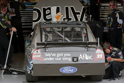 The Aflac crew make adjustments to their Ford Fusion