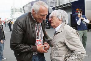 Dietrich Mateschitz, Owner of Red Bull, Bernie Ecclestone