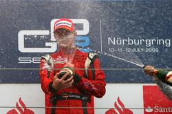 Podium: race winner Nico Hulkenberg