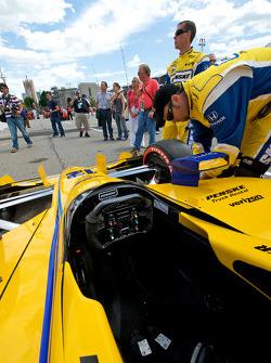 Detail of #12 Penske Racing Indycar