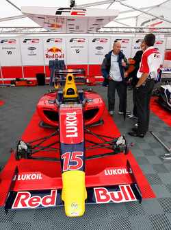 The car of Mikhail Aleshin in the paddock