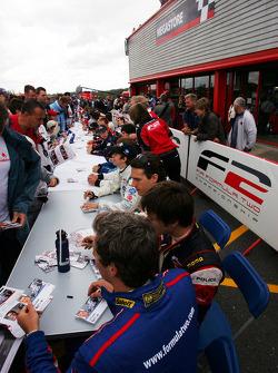 The F2 driver autograph session