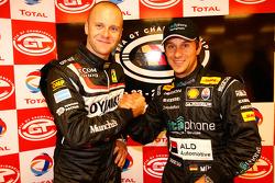 GT2 pole winner Gianmaria Bruni and GT1 pole winner Alex Müller