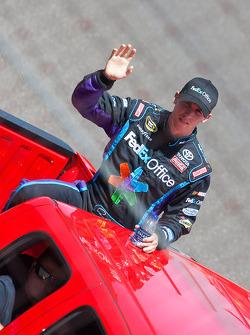Parade lap: Denny Hamlin, Joe Gibbs Racing Toyota