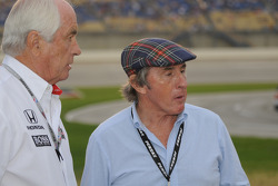Sir Jackie Stewart with Roger Penske