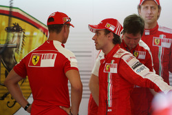 Michael Schumacher, Test Driver, Scuderia Ferrari, Luca Badoer, Scuderia Ferrari