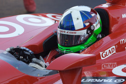 Race winner Dario Franchitti, Target Chip Ganassi Racing enters victory lane