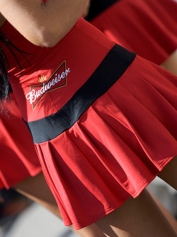A lovely Budweiser girl