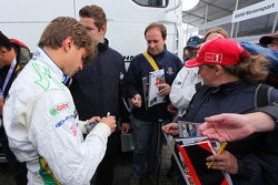 Augusto Farfus, BMW Team Germany, BMW 320si signing autographs